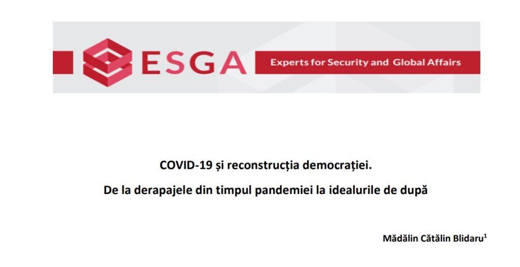 COVID-19 și reconstrucția democrației. De la derapajele din timpul pandemiei la idealurile de după