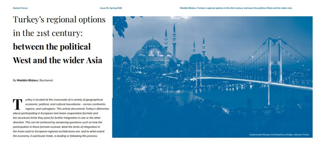 Turkey's regional options in the 21st century: between the political West and the wider Asia