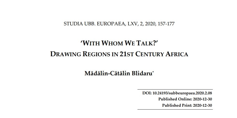 'With whom we talk?' Drawing regions in 21st centuries
